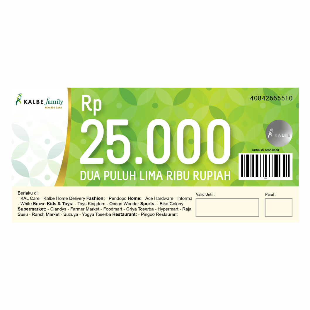 VOUCHER KALBE FAMILY 25000