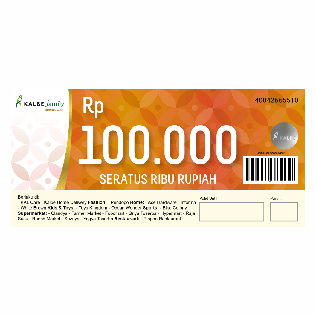 VOUCHER KALBE FAMILY 100.000 NEW